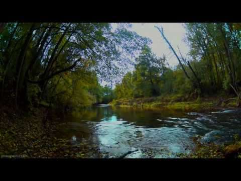 4h video in 4k relax session - gentle sound of river, beginning of autumn