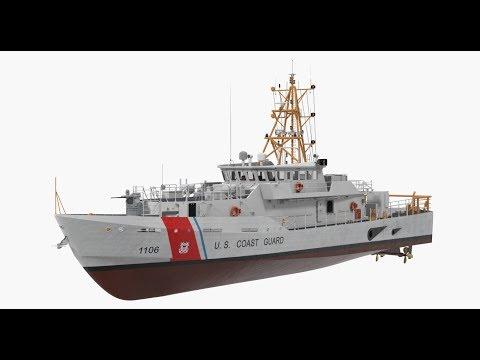 blender 2.8 Tutorial modell a coastguardship part 14 thumbnail