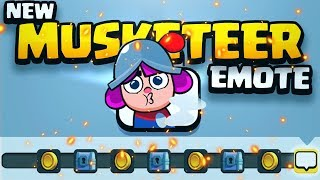 Unlocking the NEW Musketeer Emote Challenge in Clash Royale!