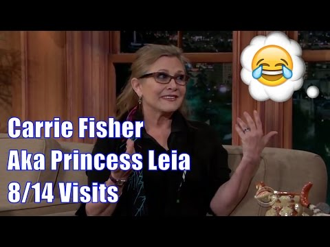 Carrie Fisher - She Would Have Made A Great Comedian - 8/14 Visits In Chron. Order [Mostly Hd]