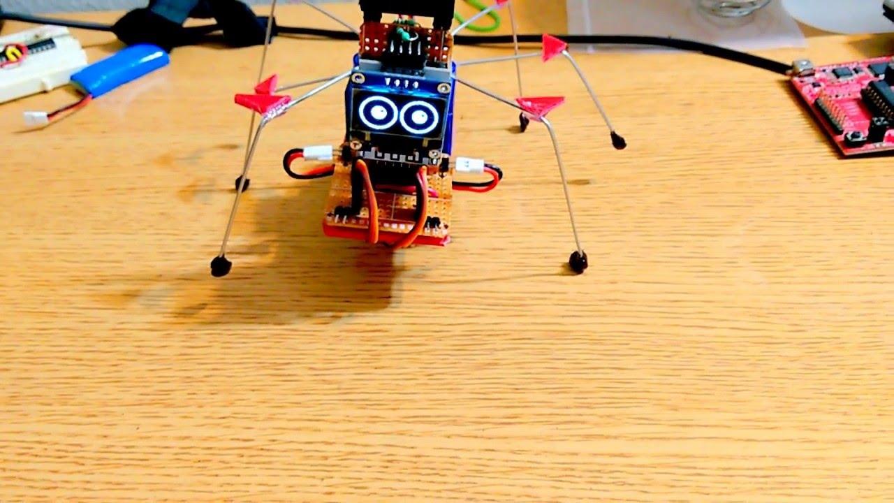 Esp8266 WiFi + Speech controlled Hexapod Robot