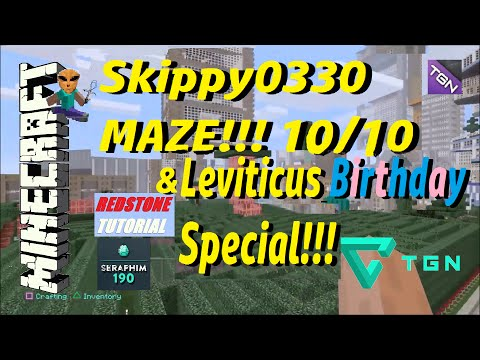 Minecraft: Skippy0330 Maze Review! & Kng Leviticus (Birthday Special) Episode: 284