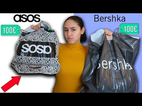 100€ CHALLENGE : ASOS Vs BERSHKA