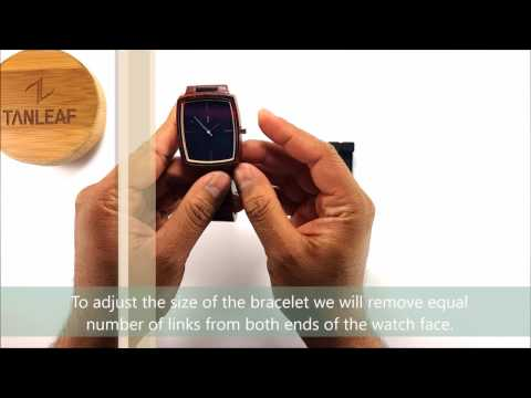 TanLeaf™ wood watch - How to resize the wooden bracelet of your watch ?