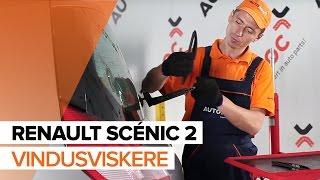 Hvordan bytte bak vindusviskere på RENAULT SCÉNIC 2 BRUKSANVISNING | AUTODOC
