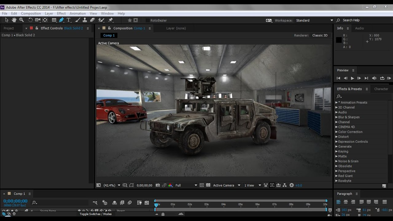 Texturing car after effects tutorial element 3d youtube for Habitacion 3d after effects