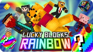 LUCKY BLOCKS RAINBOW! | Minecraft Lucky Blocks Hunger Games - Exo, Gona, Sara, Macundra y Luh