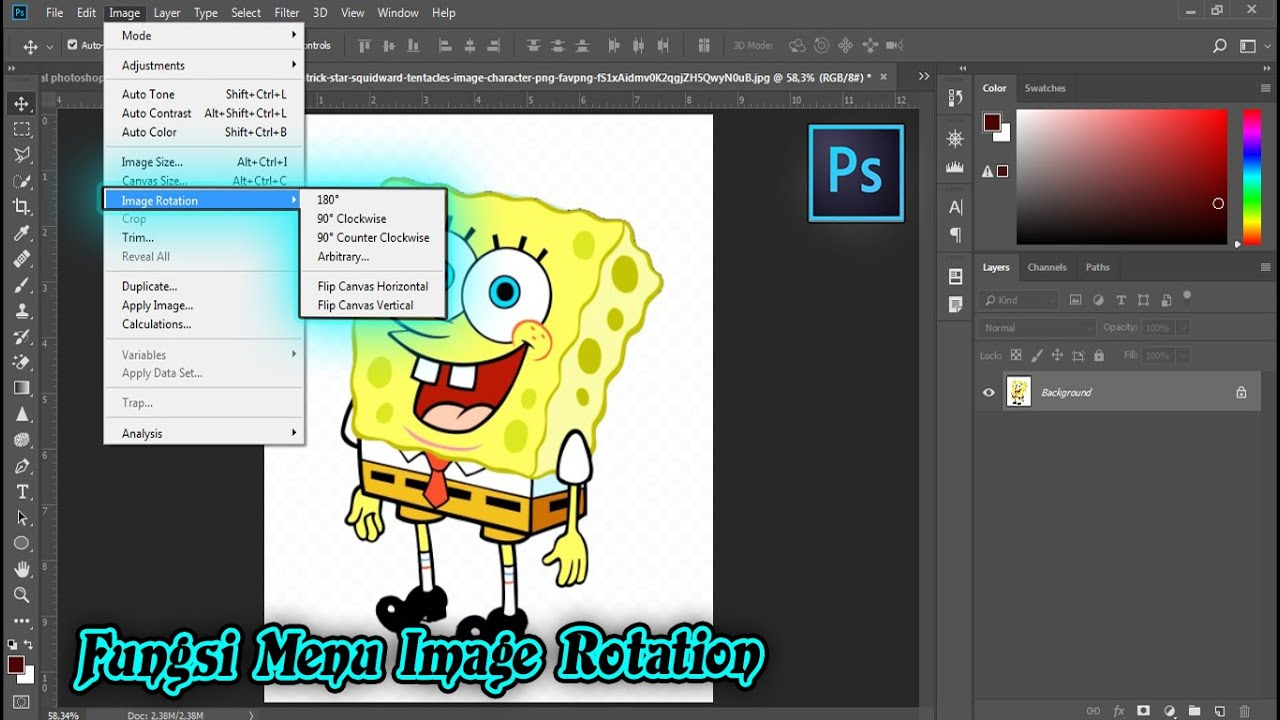 Fungsi Image Rotation Di Photoshop - Photoshop Tutorial ...