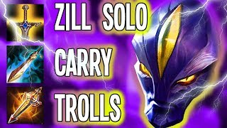 WHEN YOU HAVE RANK 1 IN TEAM BUT HE TROLLS 😫😫😫 | Arena of Valor Zill Gameplay (JGL BUILD)