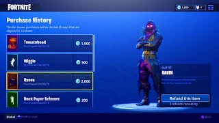 FORTNITE REFUND SYSTEM SKINS! HOW TO REFUND SKINS FOR VBUCKS FORTNITE BATTLE ROYALE!