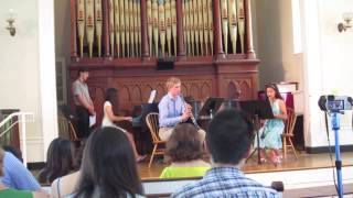 Griffin Plaag on first clarinet; his fellow clarinetist is in 7th g...