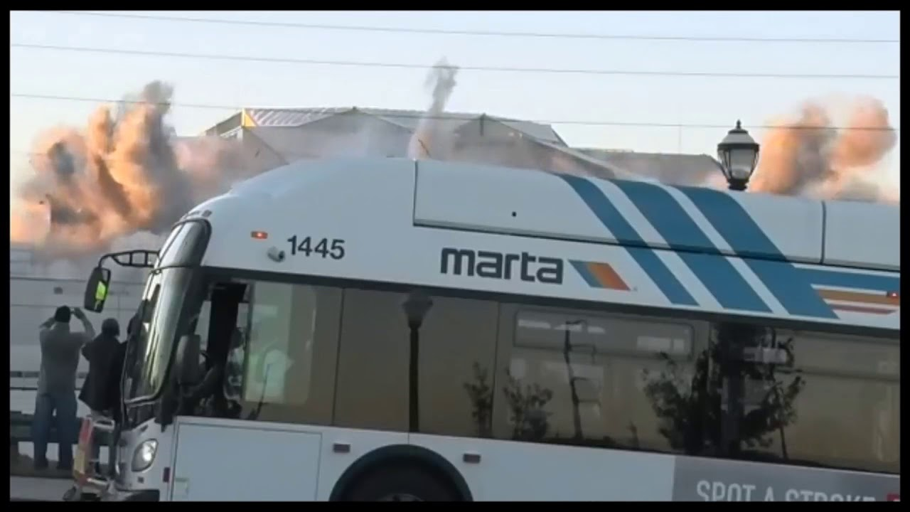Georgia Dome Implosion Bus >> Marta Bus Perfect Timing Georgia Dome Implosion Youtube
