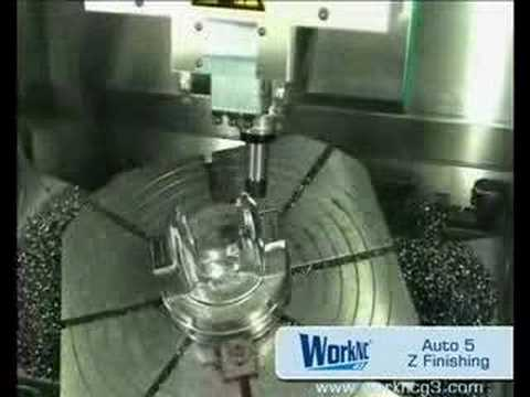 CNC Automatic CAD/CAM 5 axis finishing-machining