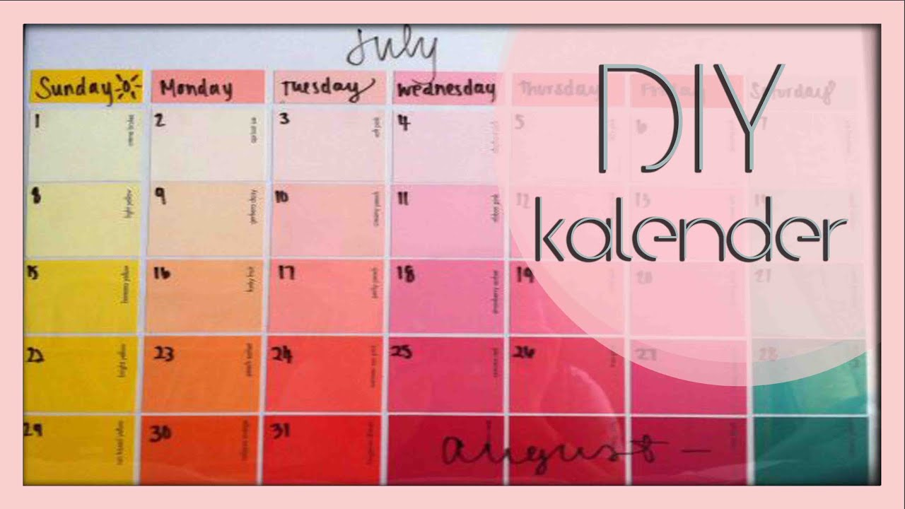 diy i kalender organisation ist alles youtube. Black Bedroom Furniture Sets. Home Design Ideas