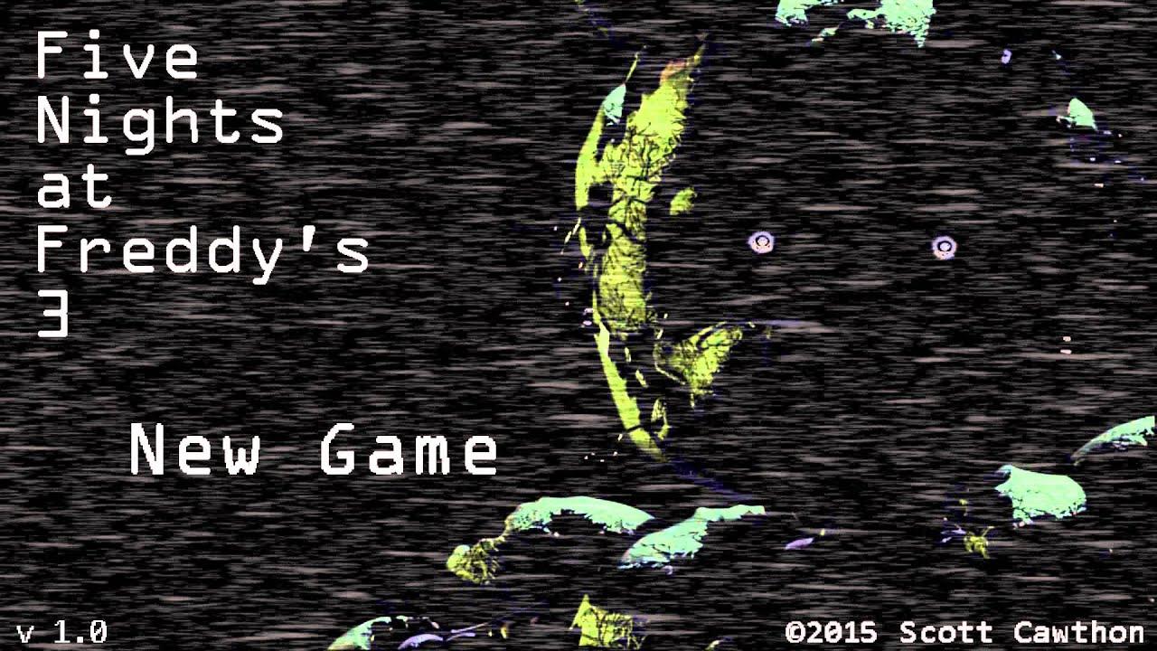 Pre release fnaf 3 gameplay edited viyoutube