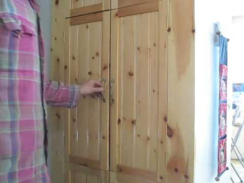 porte d 39 armoire croche youtube. Black Bedroom Furniture Sets. Home Design Ideas
