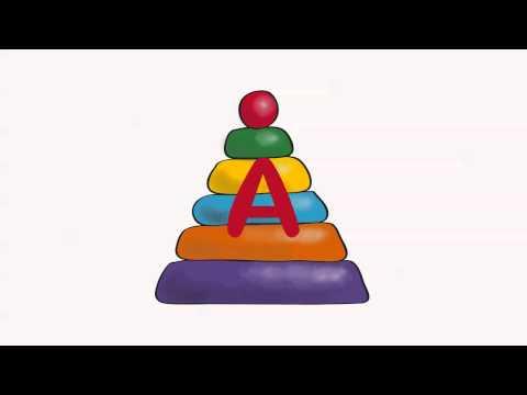Учим Буквы- На что похожа Буква А-видео для самых маленьких