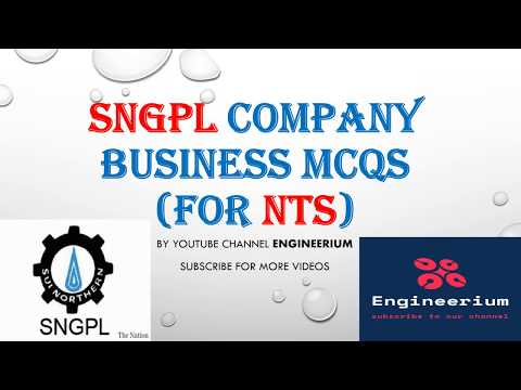 SNGPL COMPANY BUSINESS MCQS For NTS