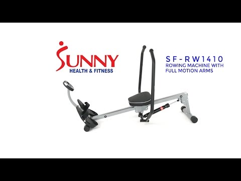Sunny Health & Fitness SF-RW1410 Rowing Machine with Full Motion Arms