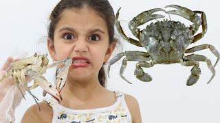 سوار اكلت سرطان البحر | تحدي الأطباق, قضم, ،, لعق, أو, لا, شيء, !! دمااااار