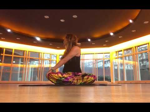 half lotus pose padmasana with twist  youtube