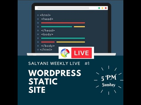 SalyaniLive #1: WordPress Static Site