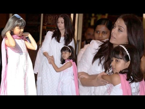 Aaradhya Bachchan Sings At Aishwarya Rai Bachchan's Father's Prayer Meet