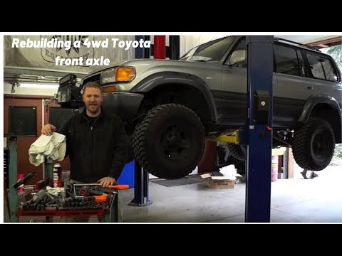 How to Rebuild your 4wd Toyota Front Axle Closed Knuckle Part 1