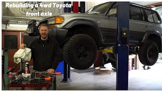 (1/2) How To Rebuild Your 4wd Toyota Front Axle Closed Knuckle