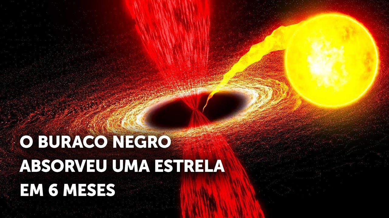 Um Buraco Negro Comeu Uma Estrela Como Se Fosse Espaguete, Veja o Que os Astrônomos Viram