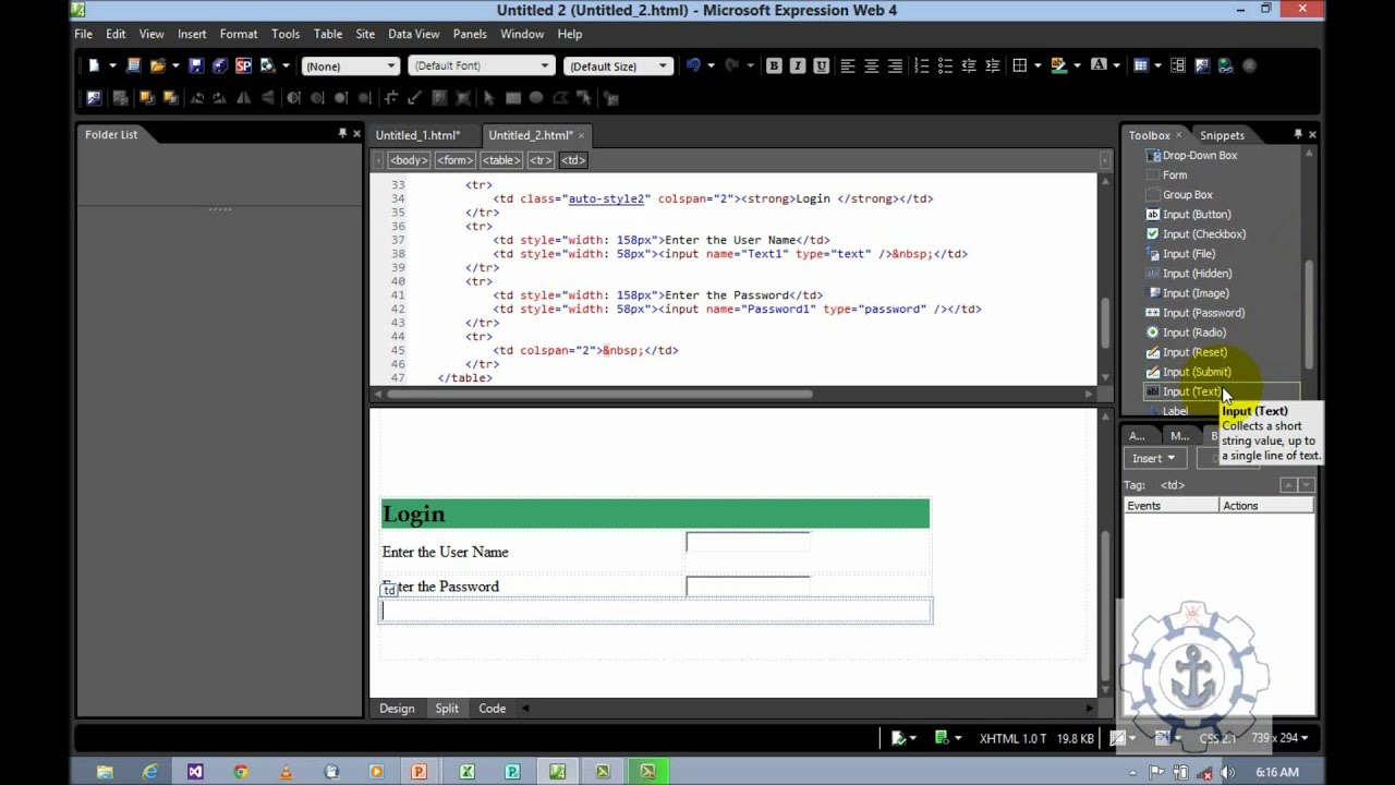 An instruction on how to create a html web page