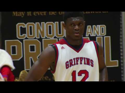 ZION Williamson (Spartanburg Day School Griffins vs. Oakbrook Prep) (2/14/17)
