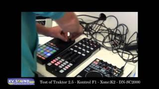EVSound test Traktor 2.5 m.b.v. de Kontrol F1 en de Xone:K2