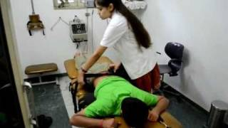 lumbar traction technique - vikalp physiotherapy clinic noida