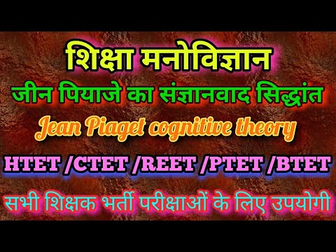 Piaget's theory of cognitive development|Jean Piaget`s cognitive theory of development /psychology /