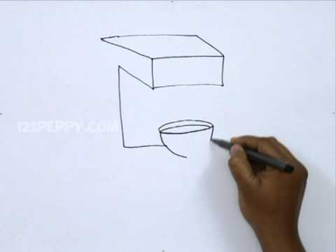 How To Draw A Coffee Maker Youtube