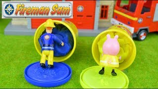 Fireman sam play doh Peppa pig Story Fireman sam to the rescue Fire engine toys