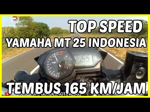 Top Speed Yamaha MT 25 Indonesia Tembus 166 KM/Jam