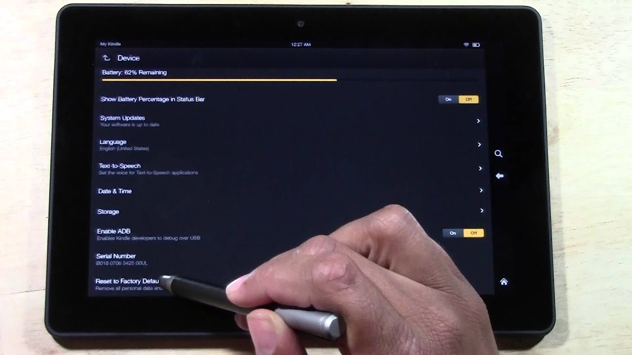 Kindle Fire HDX 8 9 How to Reset Back to Factory Settings | H2TechVideos