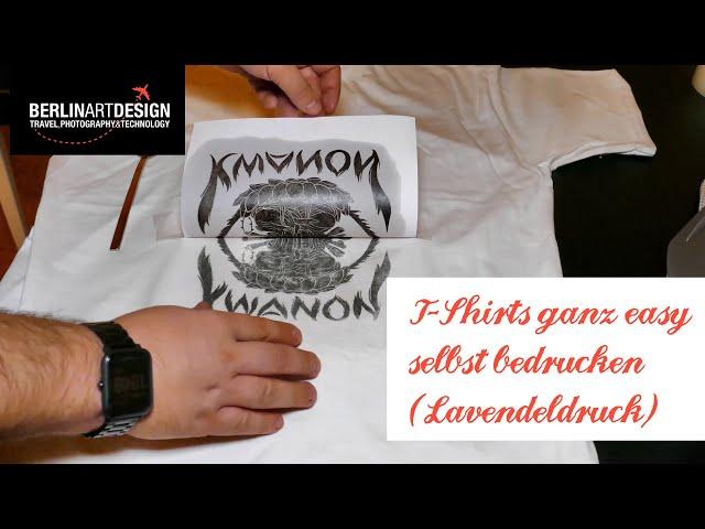 DIY: T-Shirts ganz easy selbst bedrucken (Lavendeldruck)