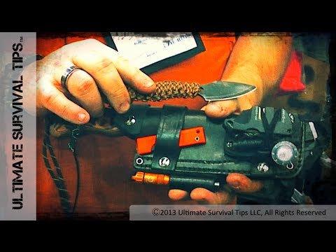 NEW! Cool Bushcraft / Survival Sheath - Habilis Bushtools Alpha Rig Sheath Survival Kit