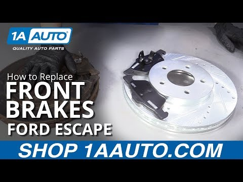 How to Replace Front Brakes 05-12 Ford Escape