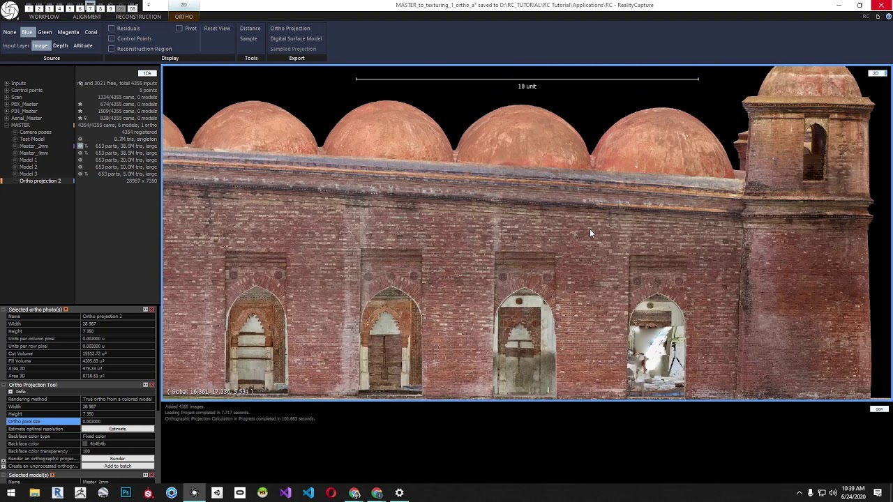 Creating Orthographic Images Inside Of RealityCapture by CyArk