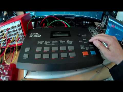 Kawai R-50 Drummachine from the 80s revisited in 2017