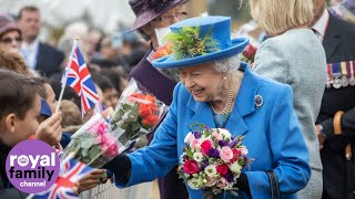 Queen Opens New Housing Development for Armed Forces Veterans