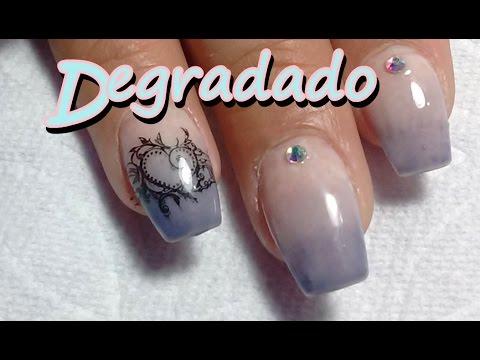 Degradado De Uñas Con Gel Semipermanente Degradation Of Nails With Gel
