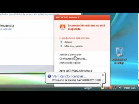 ESET Nod32 5 Activar licencia