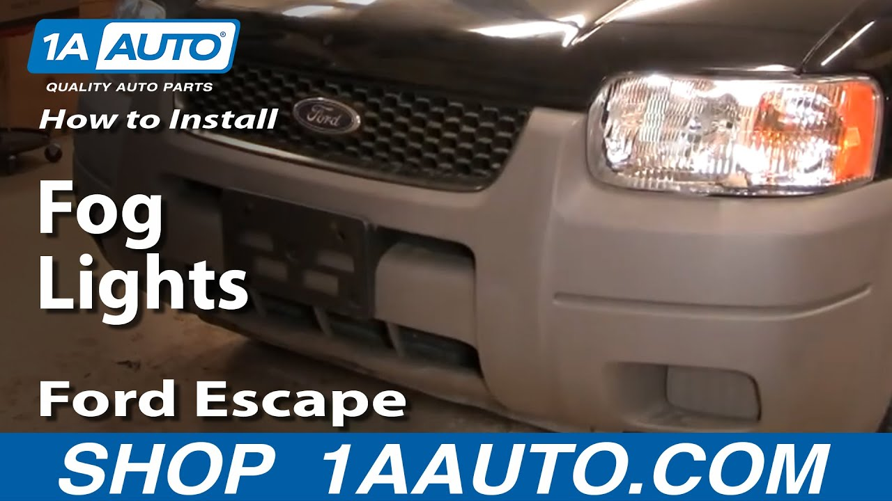 how to replace fog light 01 04 ford escape [ 1280 x 720 Pixel ]