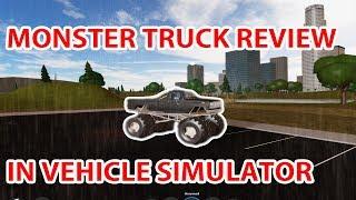 Monster Truck Bewertung im Fahrzeug-Simulator! (Roblox)