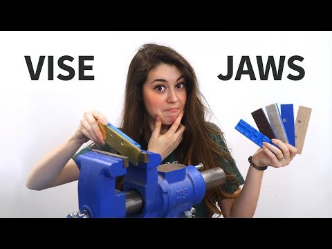 1 Vise, 6 DIY Vise Jaws (Brass, Wood, Plastic, Leather, & Felt)